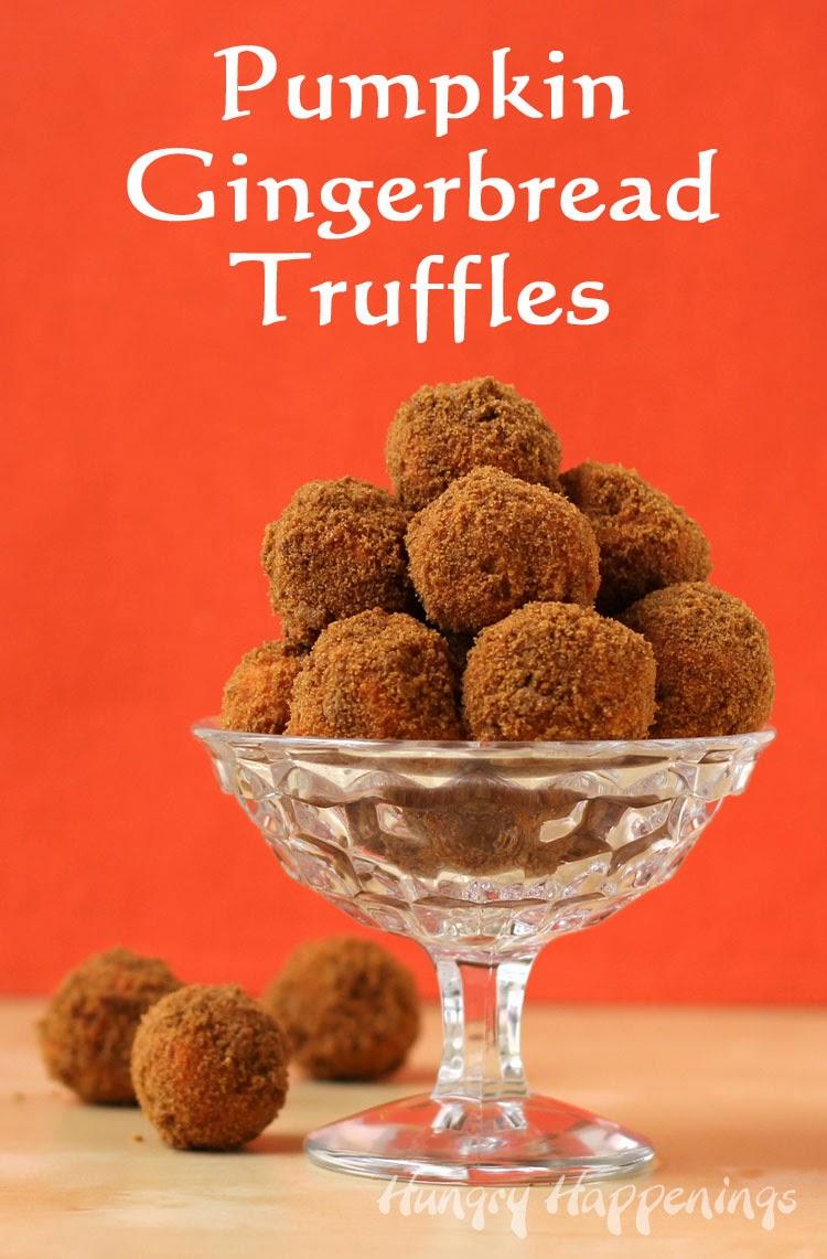 ... : Pumpkin Gingerbread Truffles made with Pumpkin Spice Candy Melts