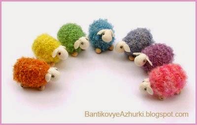 вязанные овечки