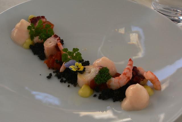 Restaurant Pavus Lasko shrimp octopus