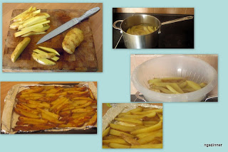 Step by step low fat oven chips fries by ng @ What's for Dinner?