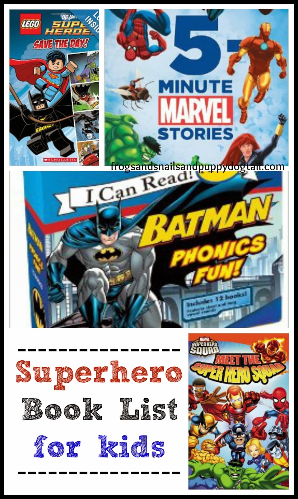 Superhero Book List for kids