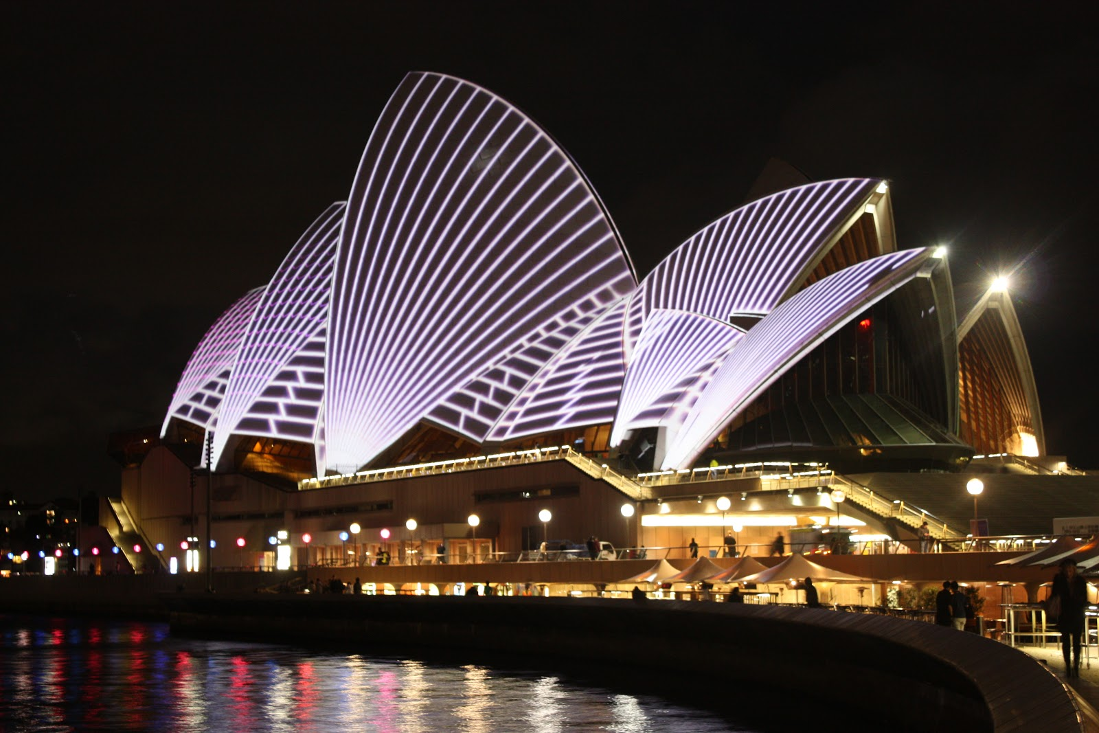City and suburbs sydney opera house vivid sydney lighting the sails
