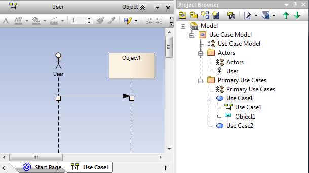diagram interakcji przypadku użycia UseCase1