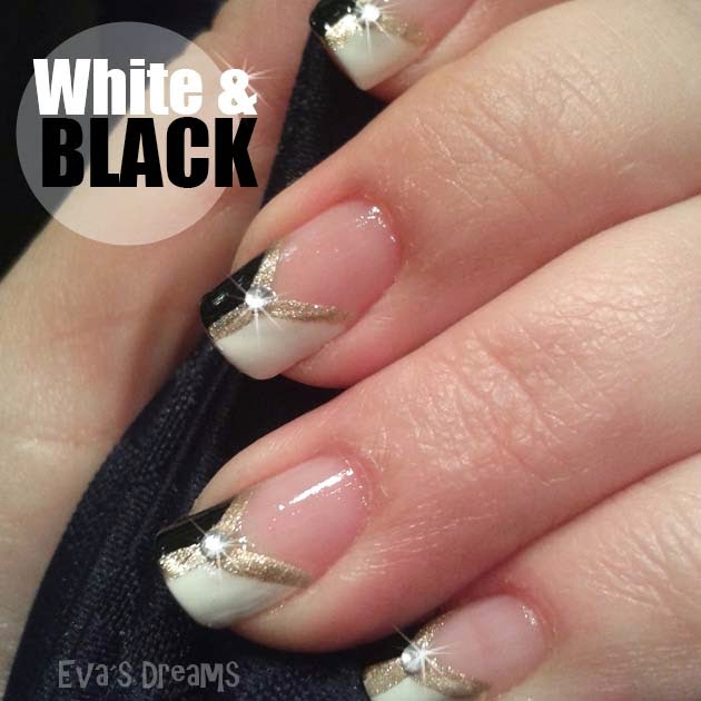 Nails of the week: Nail art design - White + Black