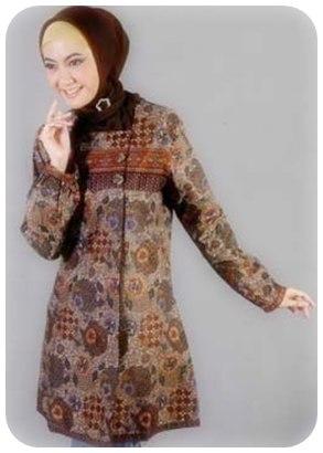 Koleksi model baju batik muslim ^Ciamik^ Model Baju Batik