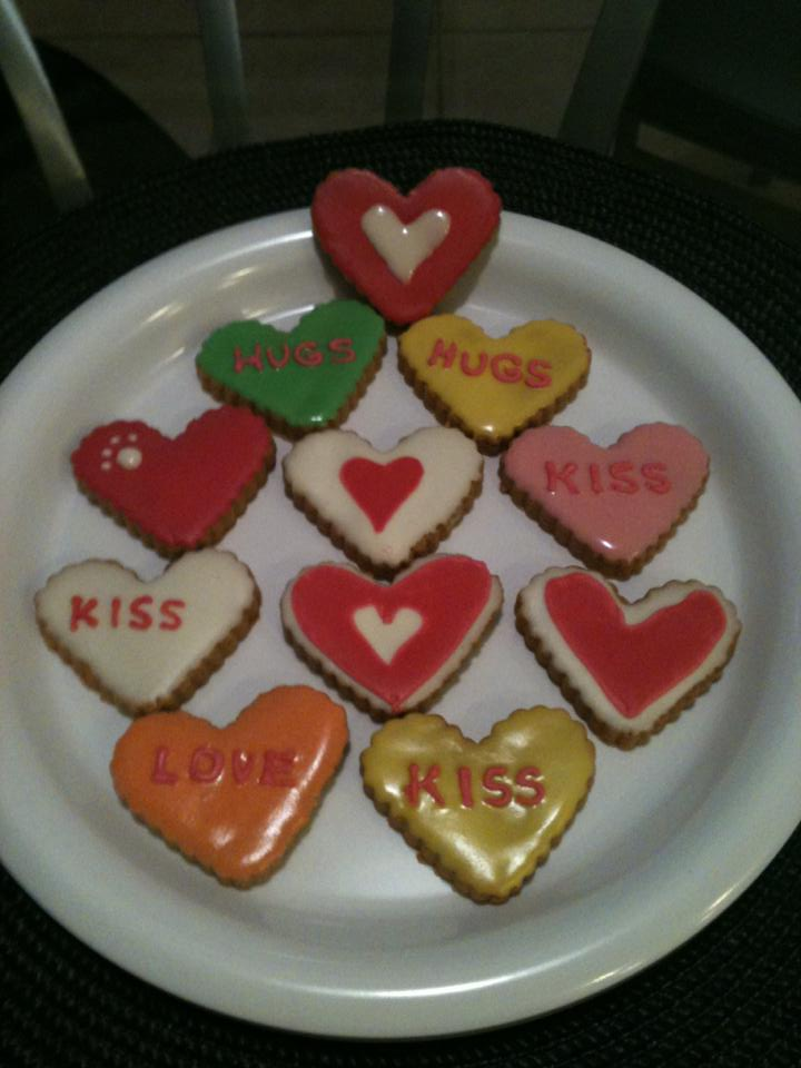 Valentine cookies for dgs