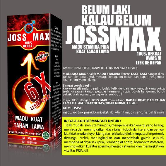 Madu Kuat Joss Max 08129347609