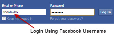 login-using-facebook-username