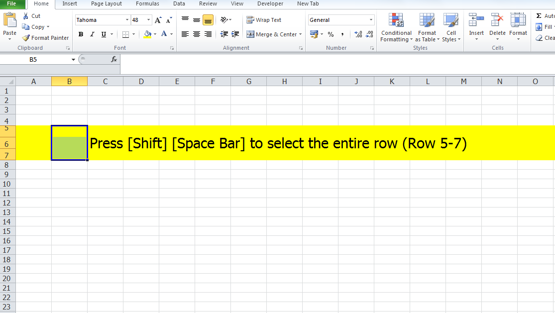 excel how to put bar above