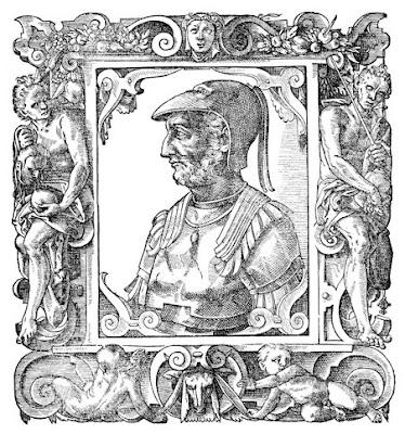 Pirro ,re combattente dell'Epiro , territorio abitato dai discendenti degli antichi Pelasgi e gli Illiri.(1890)