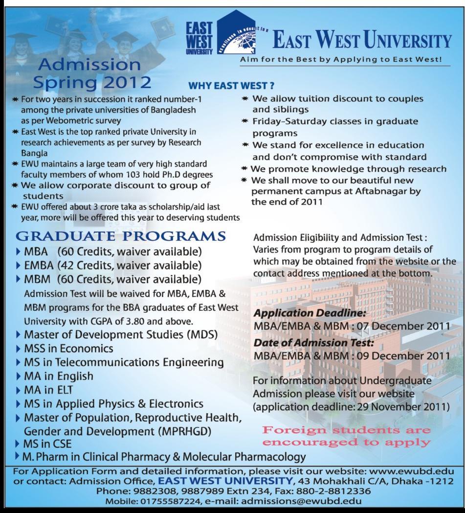 eastwest university bangladesh Bangladesh stipend program in bangladesh janet raynor, university of london institute of education kate wesson, open university, milton keynes.