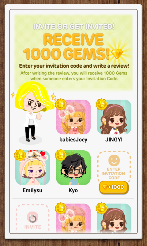 Ebbi time line play app guide and review you can receive gems from entering other users invitation codes simply go to your settings and click profile once there you will see the invitation code stopboris Gallery