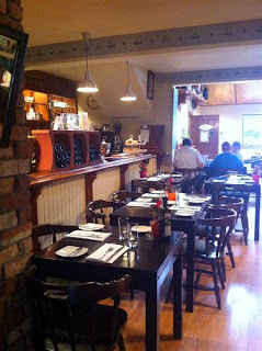 Stitch and Bear - Rear dining area of the Fatted Calf, Glasson