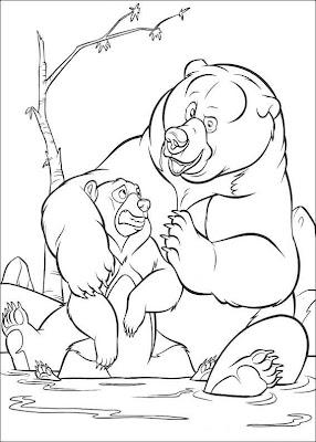 Coloriage frère des ours