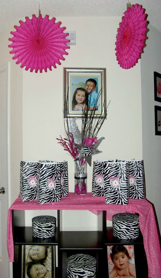 My Creative Way: Zebra Spa Party Decorating Ideas