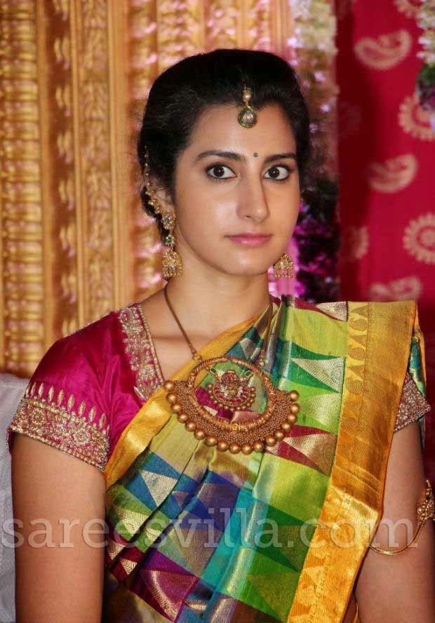 Brahmini in Uppada Silk Saree