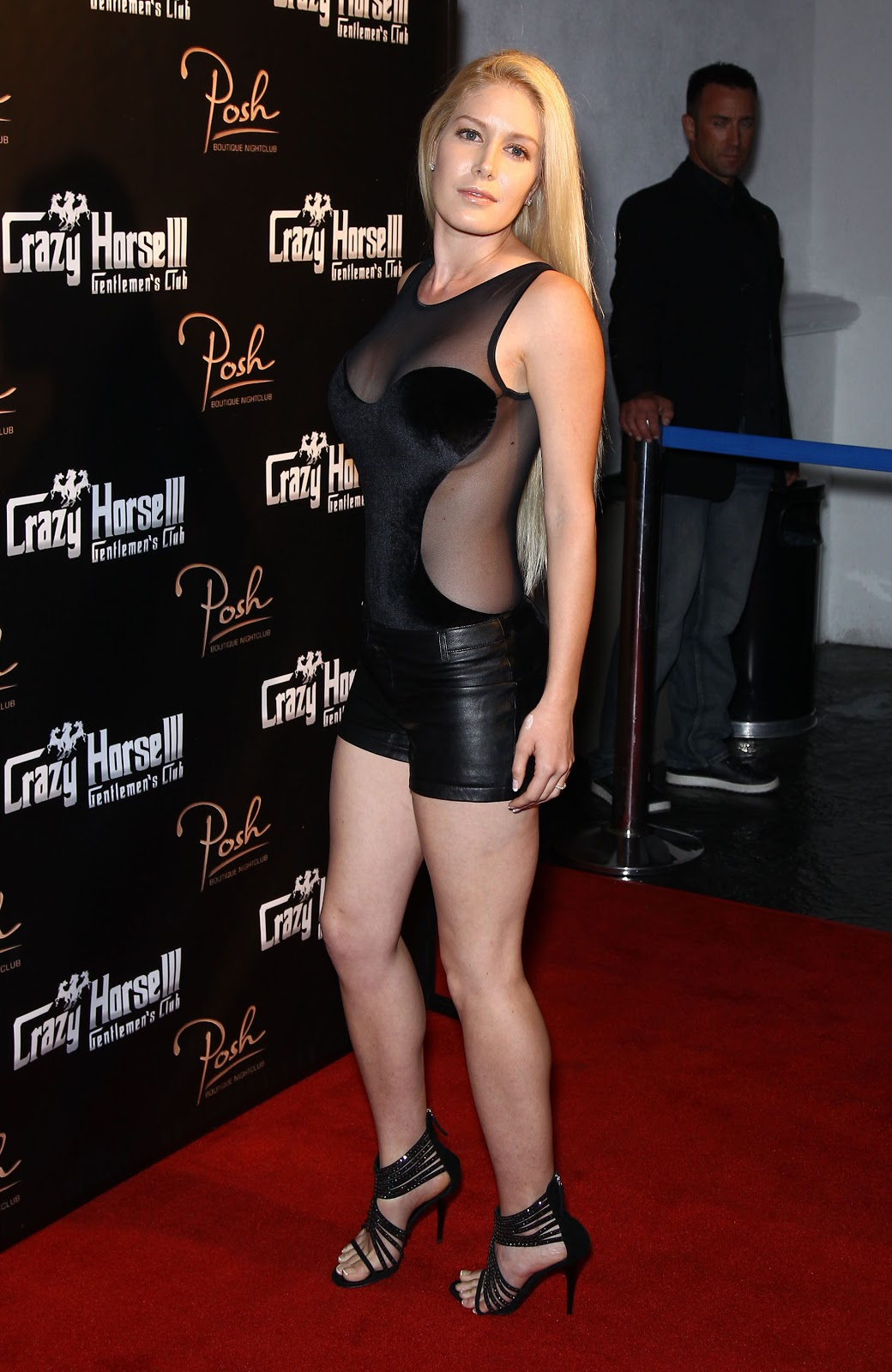 Heidi Montag In Mini Leather Shorts Crazy Horse Iii Third