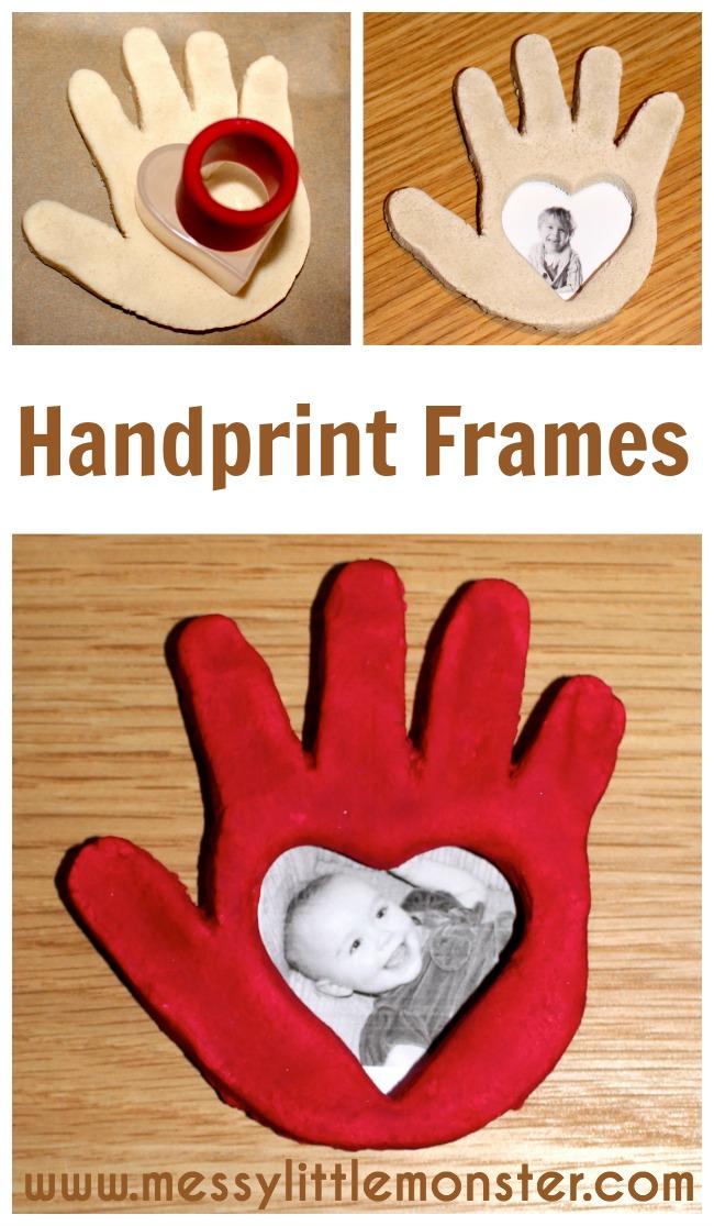 Salt Dough Handprint Frame  Messy Little Monster