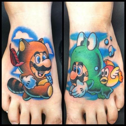 Tatuajes Mario Bros, http://distopiamod.blogspot.com