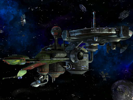 Elite Force Constitution Class Bird of Prey hybrid space station