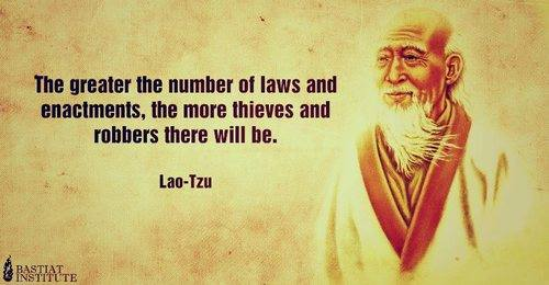 The Greater the Number of Laws the Greater Number of Thieves