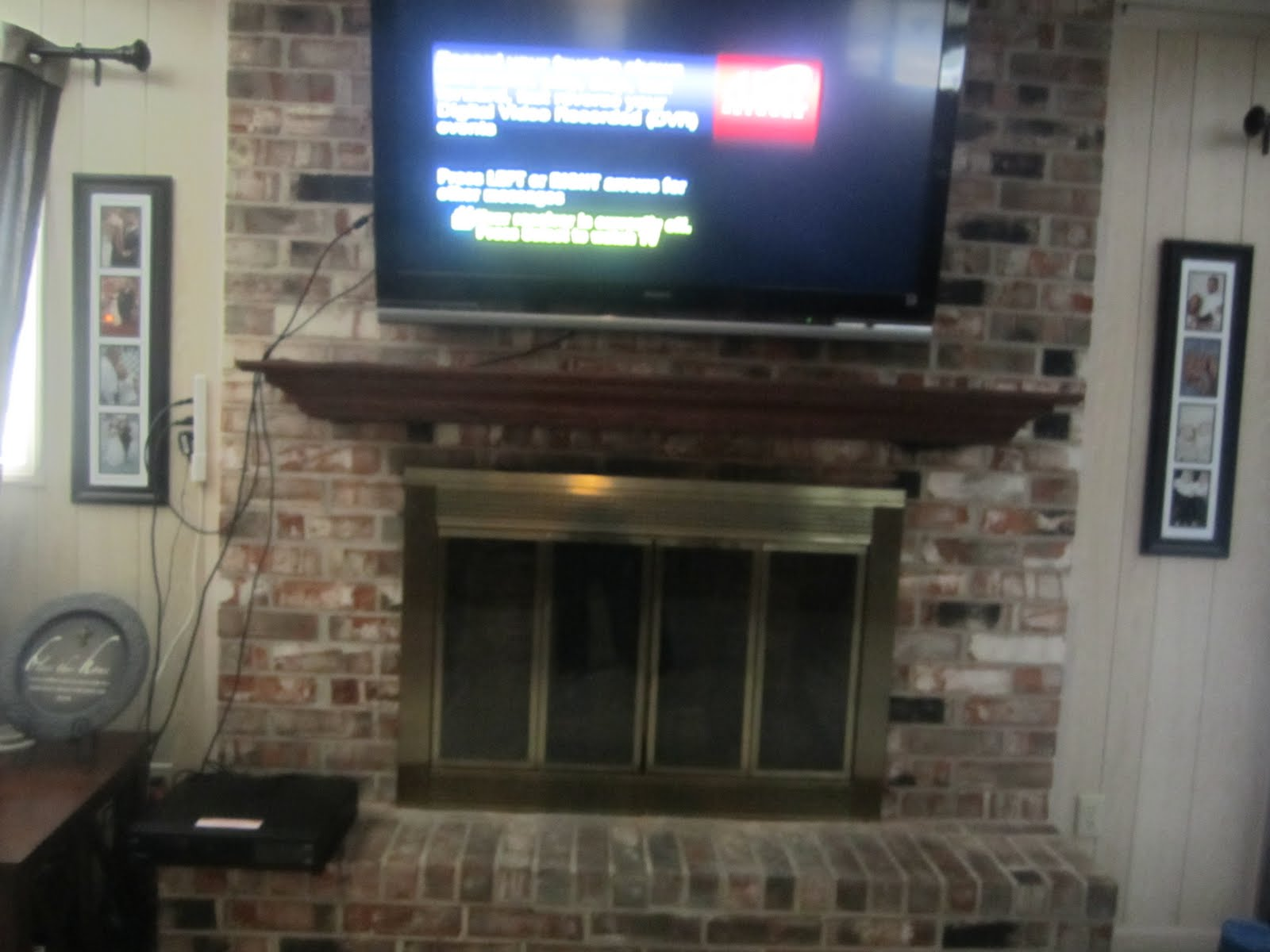 Mount Tv Brick Fireplace Hide Wires
