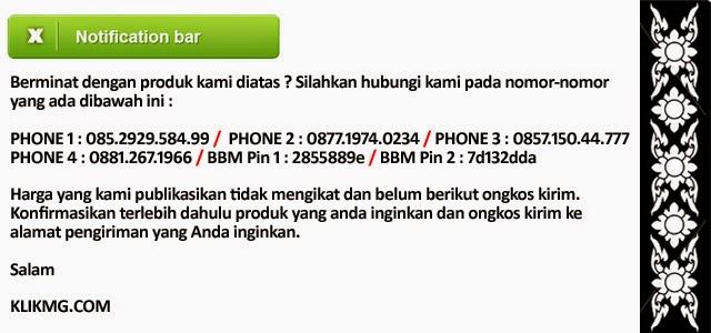 Silahkan hubungi kami untuk pemesanan produk diatas