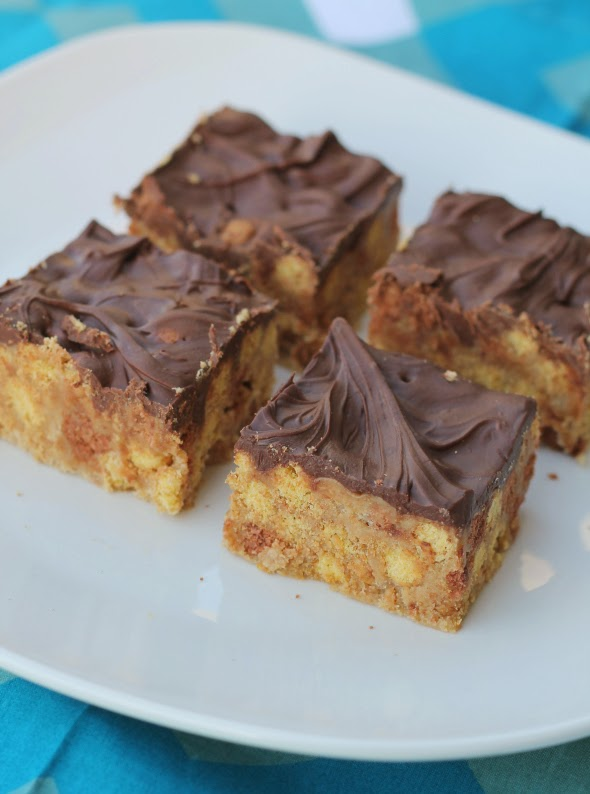 Peanut Buttery Scotcheroos from WhatchaMakinNow.com
