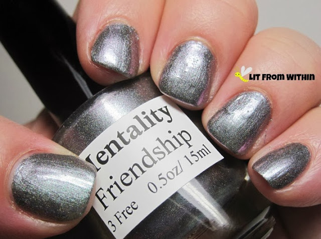 Mentality Friendship, a grey-purple duochrome with a subtle holo