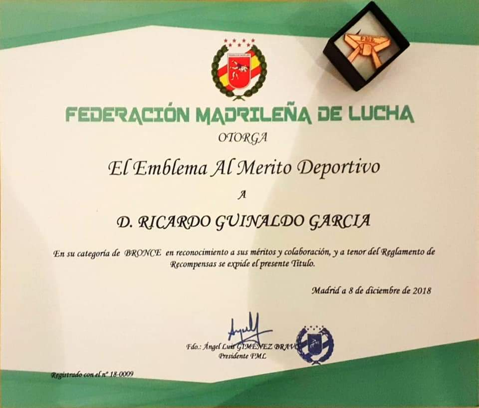 Emblema Merito Deportivo Dic 2018