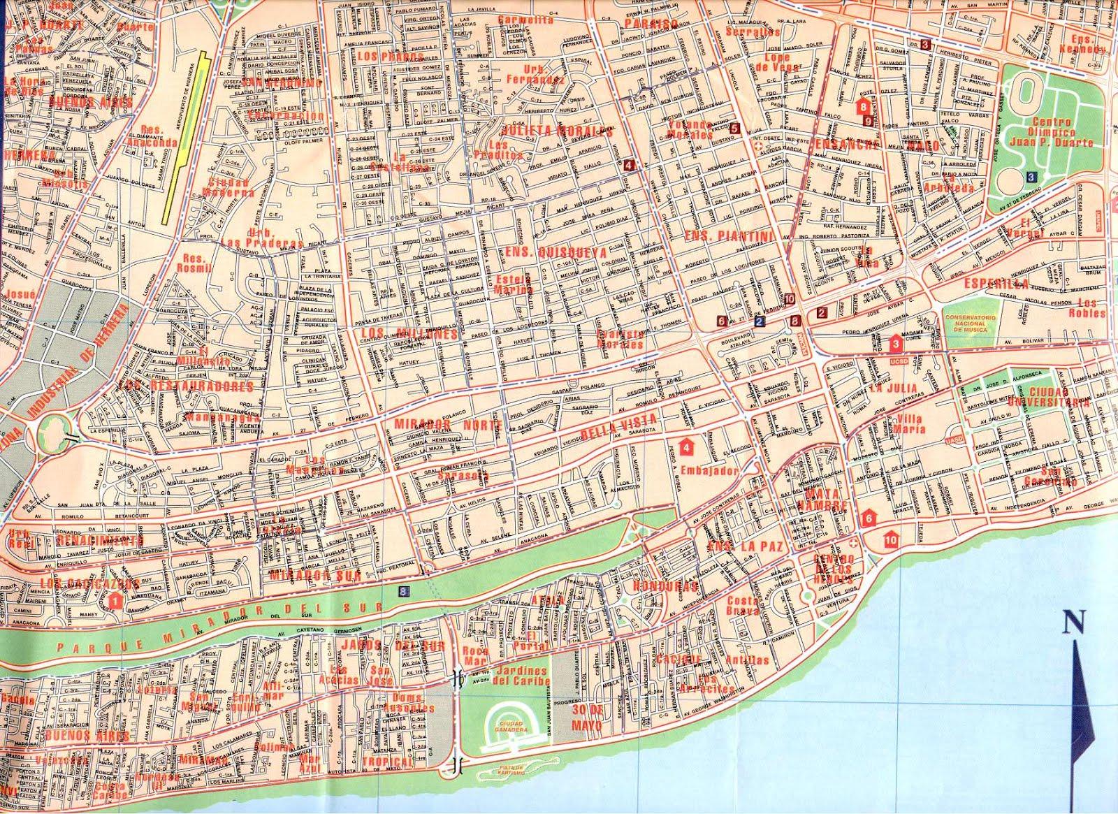 Mapa De Villa Carmen Republica Dominicana