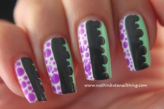 Polka dot nail art tutorial