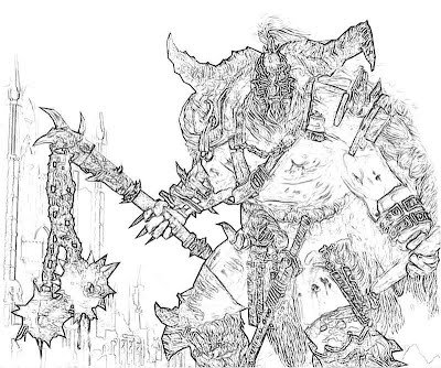Printable Diablo 3 Barbarian Female Coloring Pages Wallpaper Pictures
