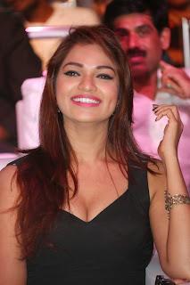 Actress Ashwi Latest  Pictures in Black Short Dress at Chakkiligintha Trailer Launch  15