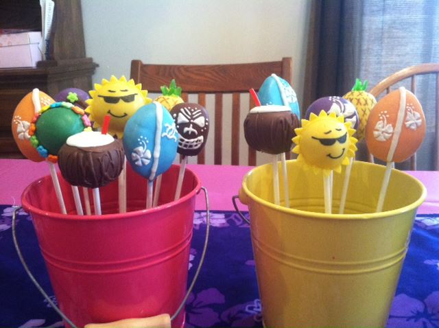 Summer Gift Bucket Cake Pops by Pop Chick Confections