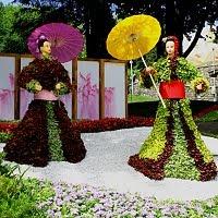 Выставка цветов на Певческом поле «Япония глазами Украины»