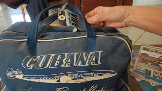 Miami Florida vintage airline bag