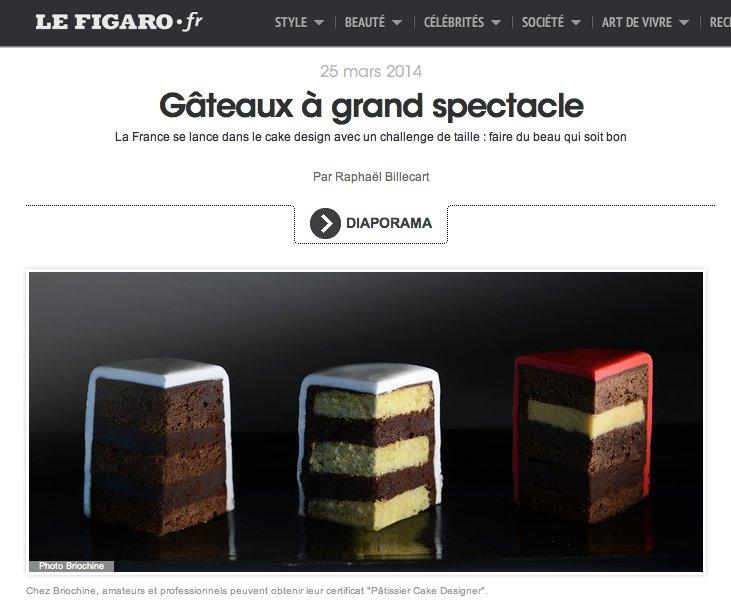 Grazia magazine sugar paris cake design Briochine Formation école