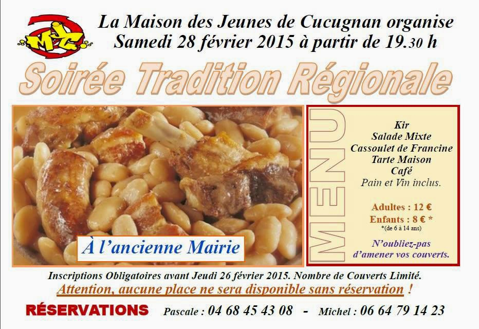 Cassoulet organsisé par la M.J.C. Lezignan Corbières