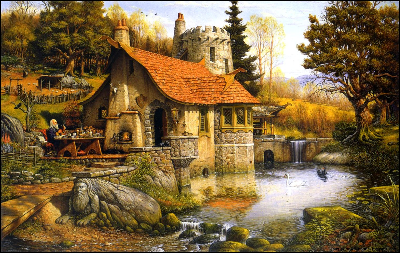 fantasy cottage wallpaper amazing wallpapers
