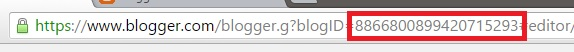 ID Blog pada kolom Address Bar