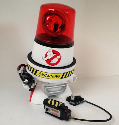 Ecto-1 Custom Ghostbusters Fatcap Vinyl Figure by Sket One