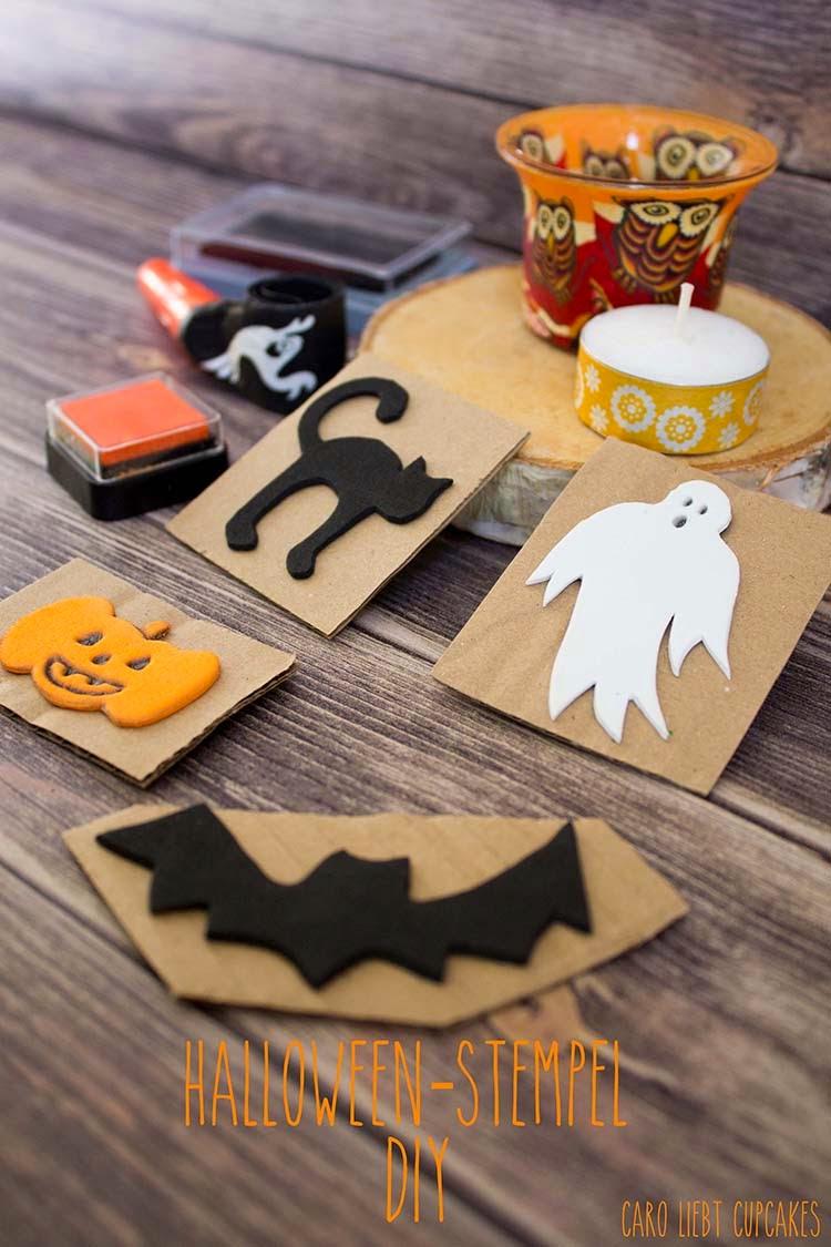 caro liebt cupcakes: {DIY} Happy Halloween – Moosgummistempel ganz ...