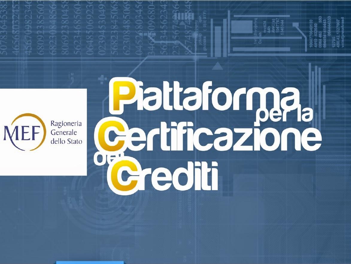 Piattaforma MEF certificazione crediti