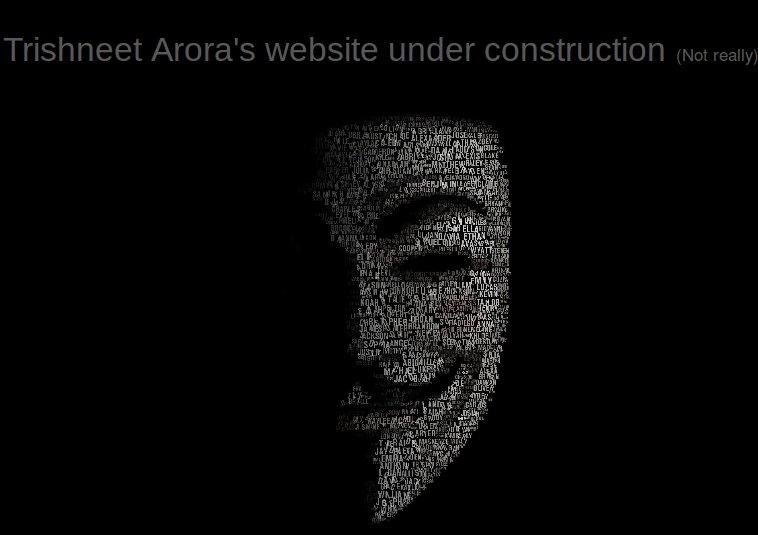 Self Proclaimed Ethical Hacker Trishneet Arora Website ...