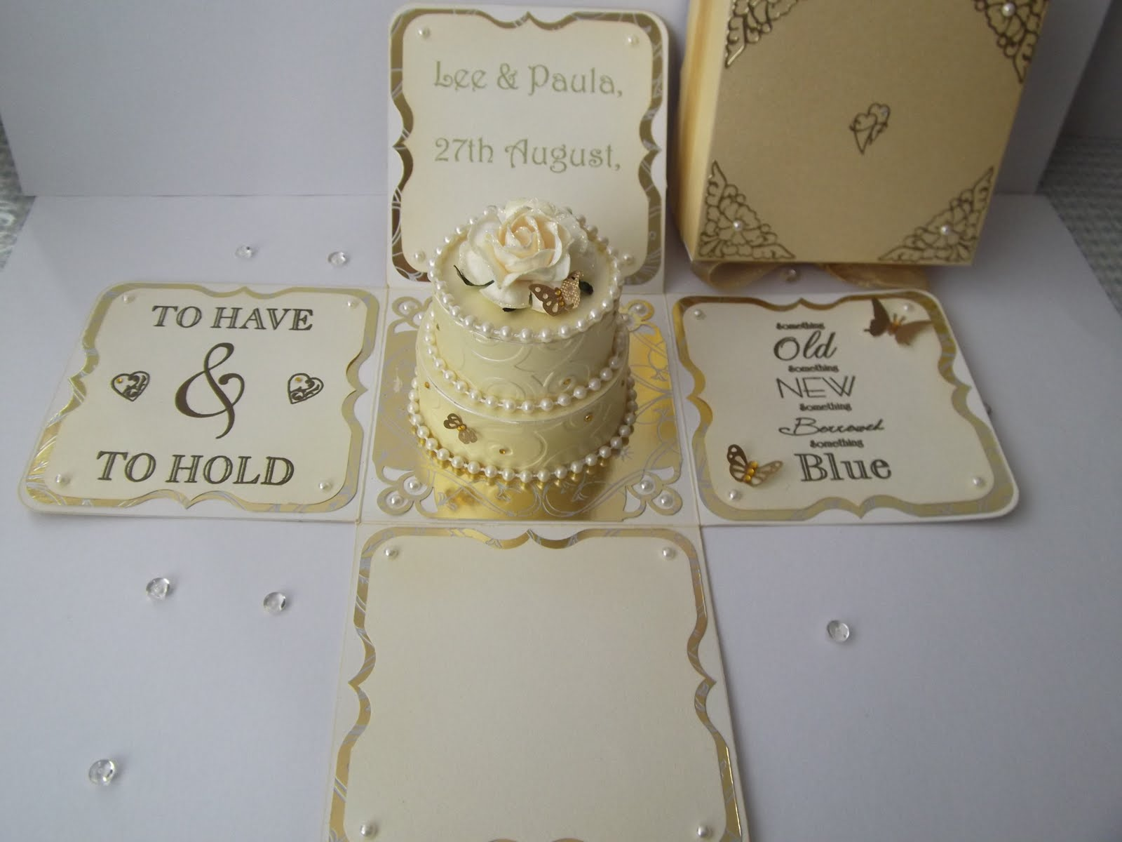 My little crafty blog: Wedding exploding box.
