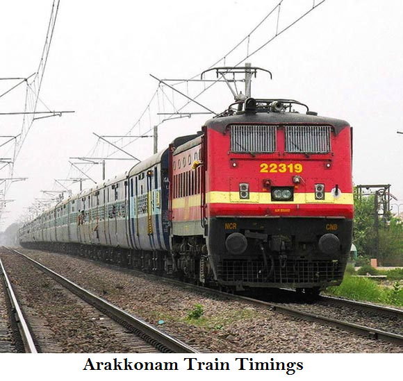 Arakkonam To Kurnool Train Timing