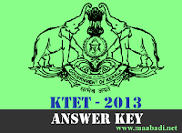 KTET Answer Key 2013