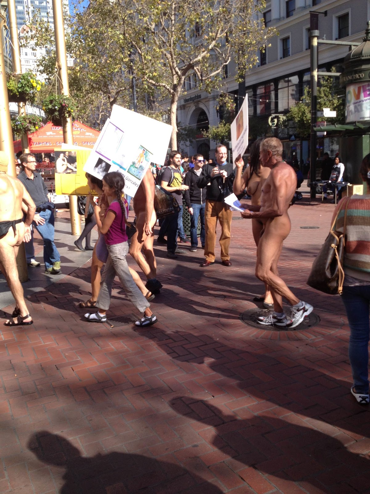 will protest about nudity: