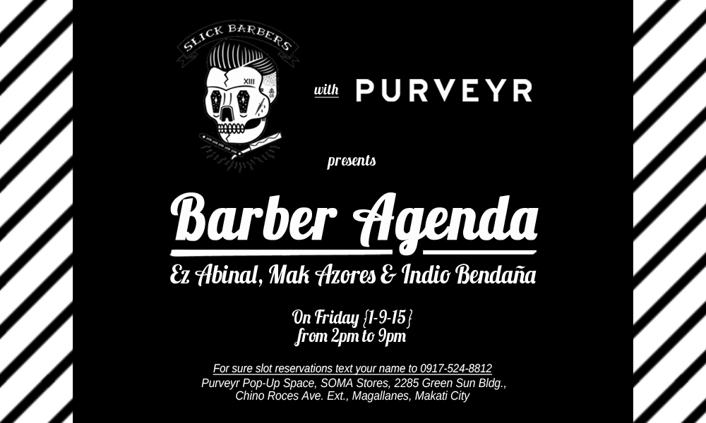 Purveyr: Slick Barbers x Purveyr: Barber Agenda